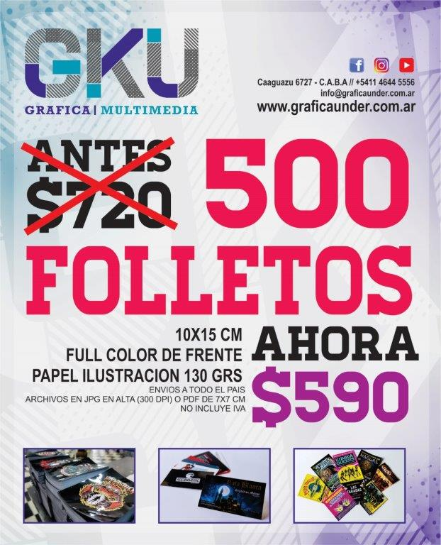 Volantes Folletos Flyers grafica under promocion promo