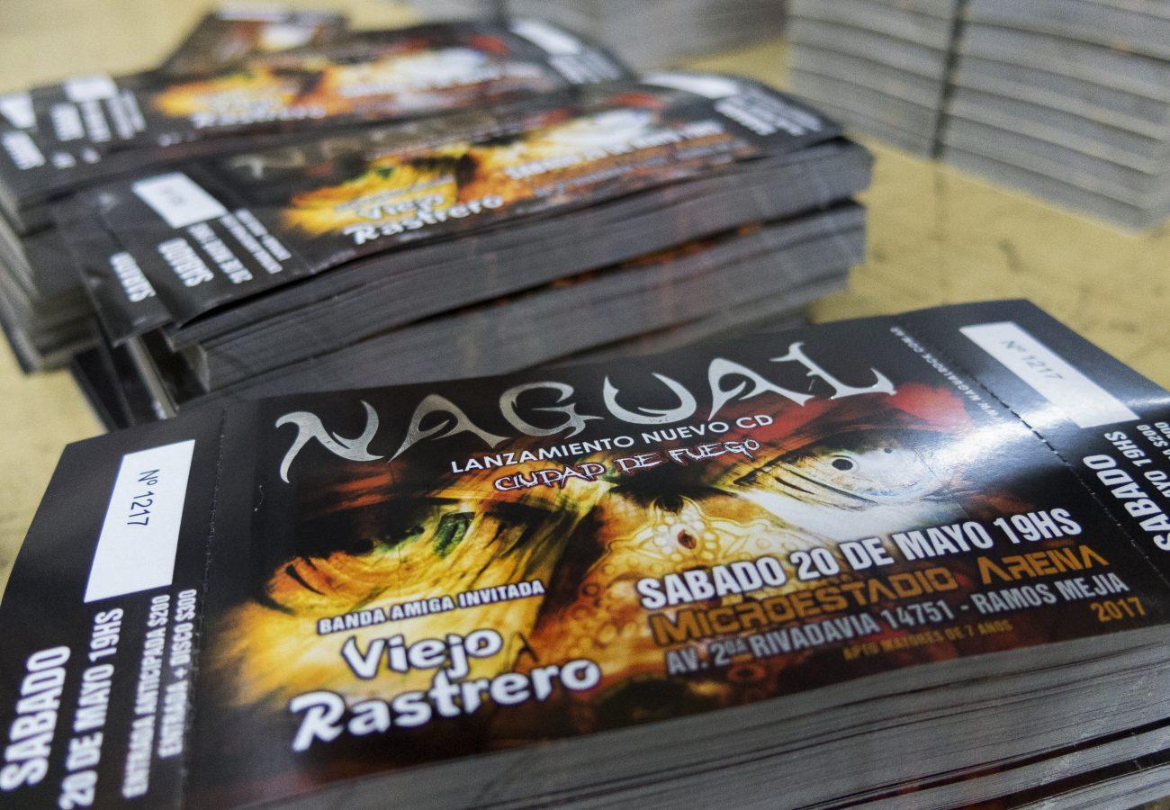Impresion de entradas Nagual Grafica Under